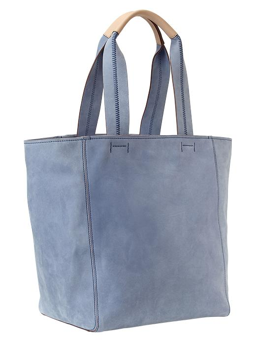 Gap Large Leather Tote - New capri blue - Gap Canada