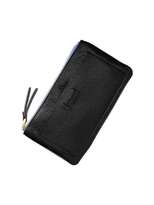 Gap Leather Wallet - Black - Gap Canada