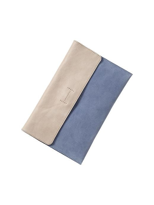 Gap Colorblock Leather Envelope Clutch - New capri blue - Gap Canada