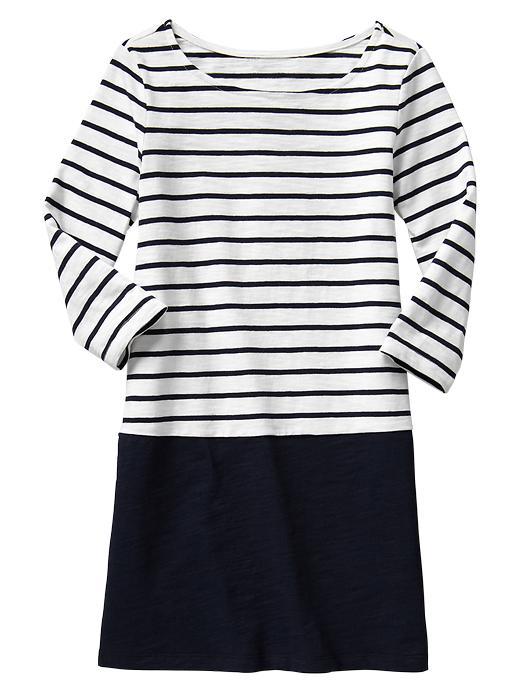 Gap Colorblock Stripe Dress - Blue galaxy - Gap Canada