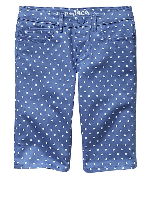 Gap 1969 Dot Denim Bermuda Shorts - Blue - Gap Canada