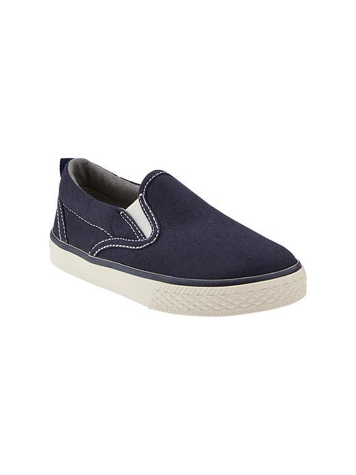 Gap Sunwashed Slip On Sneakers - Blue galaxy