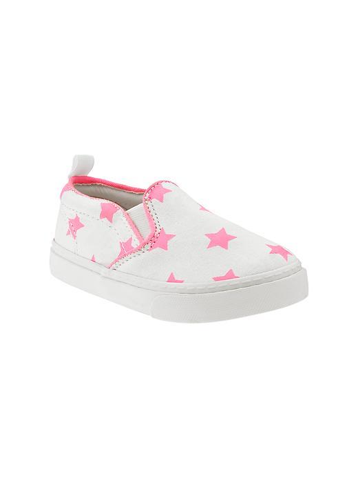 Gap Printed Slip On Sneakers - Neon light pink - Gap Canada