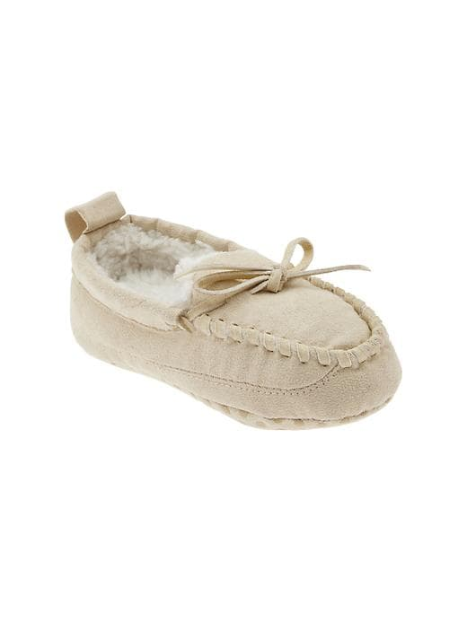 Gap Moccasin Slippers - Sly stone beige - Gap Canada