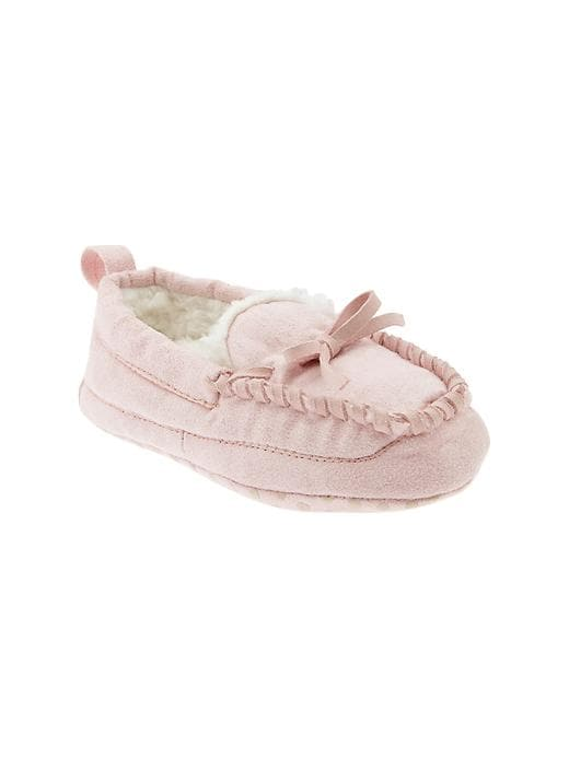 Gap Moccasin Slippers - Bashful pink - Gap Canada