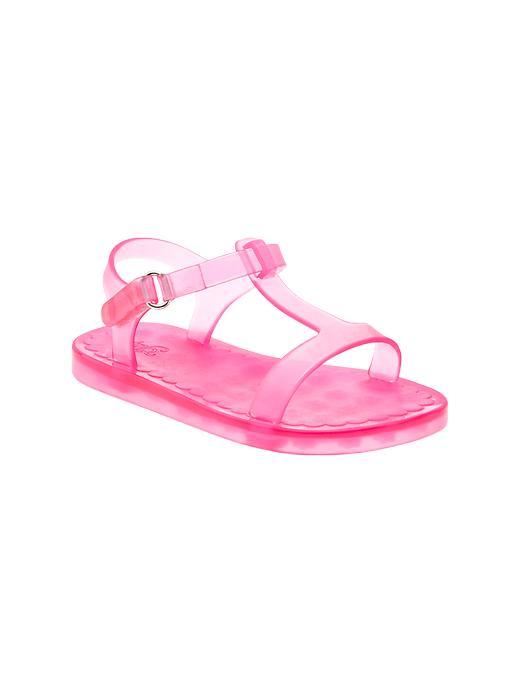 Gap T Strap Jelly Sandals - Neon light pink - Gap Canada
