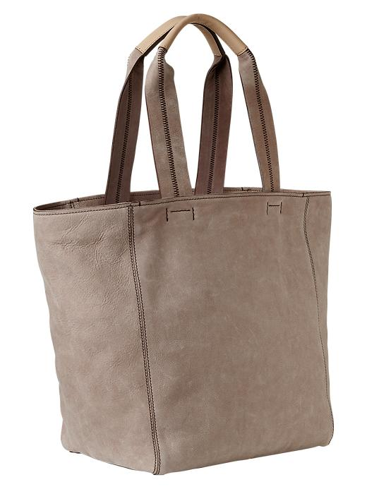 Gap Large Leather Tote - Margate sand - Gap Canada