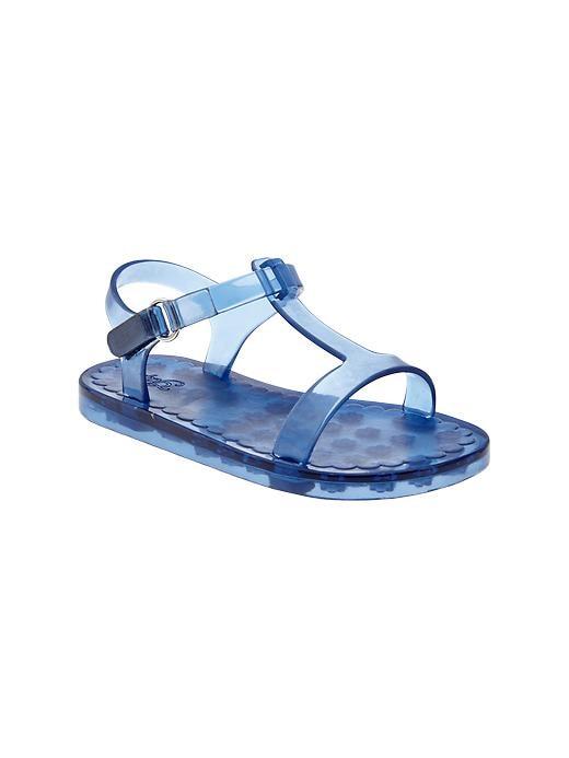 Gap T Strap Jelly Sandals - Blue - Gap Canada