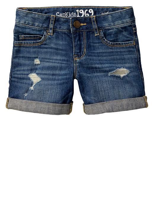 Gap 1969 Rip & Repair Denim Midi Shorts - Denim - Gap Canada