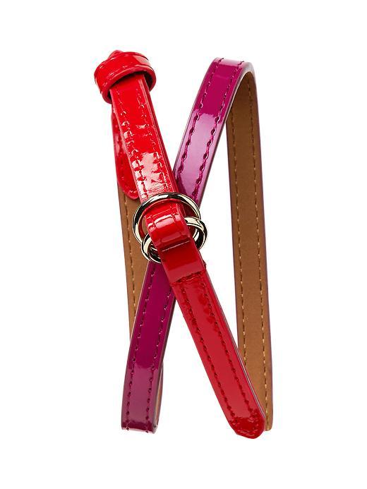 Gap Colorblock Belt - Parisian plum