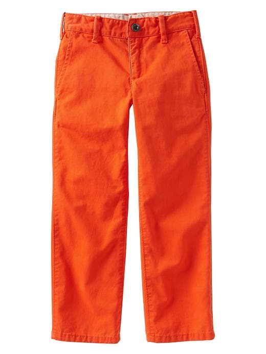 Gap Straight Khakis - Lava orange