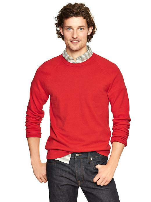 Gap Cotton Cashmere Crew Sweater - Spring coral heather - Gap Canada