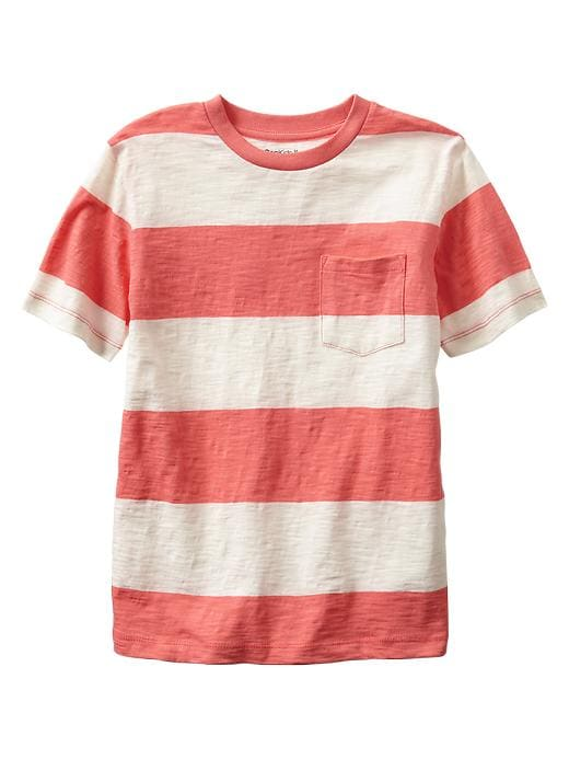 Gap Lived In Rugby Stripe T - Coral bells
