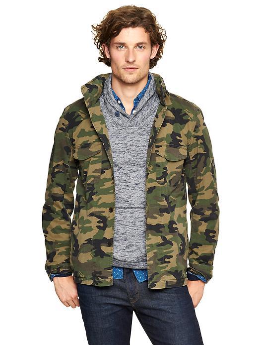 Gap Military Shirt Jacket - Camouflage