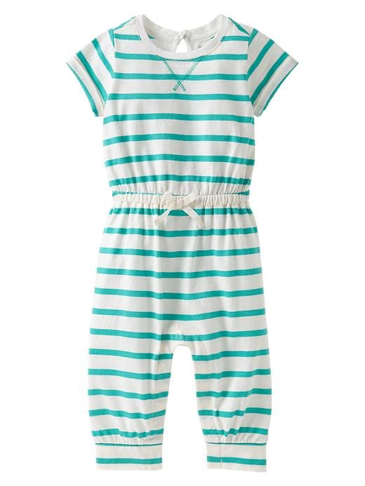 Gap Bow Striped One Piece - Egyptian turquoise