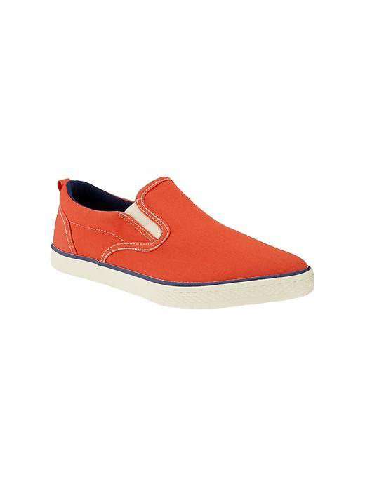 Gap Sunwashed Slip On Sneakers - Lava orange