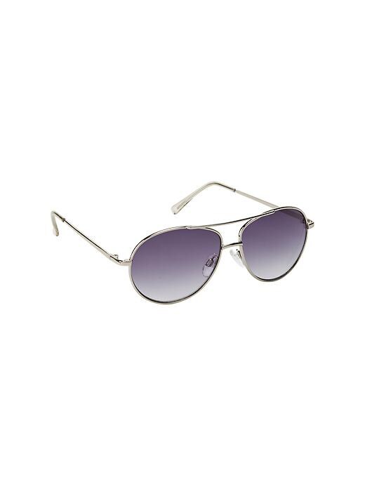Gap Aviator Sunglasses - Silver - Gap Canada