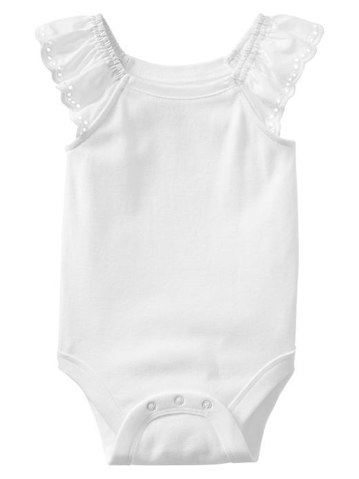 Gap Eyelet Trim Bodysuit - White