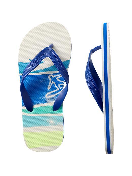 Gap Graphic Flip Flops - Active blue