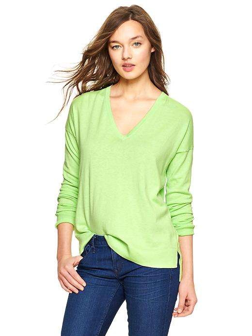 Gap Luxlight V Neck Sweater - Lime dream - Gap Canada