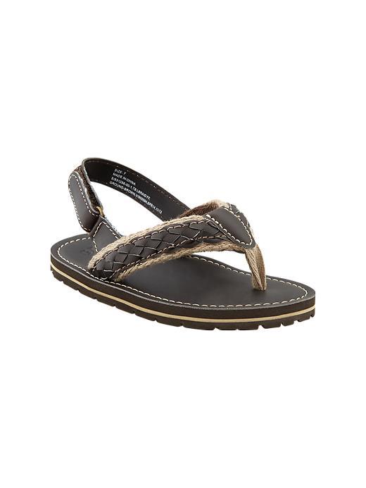 Gap Braided Ankle Strap Flip Flops - Brown - Gap Canada