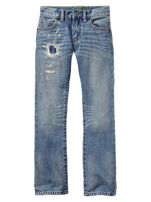 Gap 1969 Rip & Repair Straight Jeans - Denim - Gap Canada
