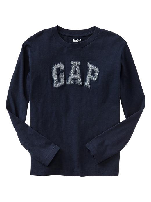 Gap Heathered Arch Logo T - Blue galaxy