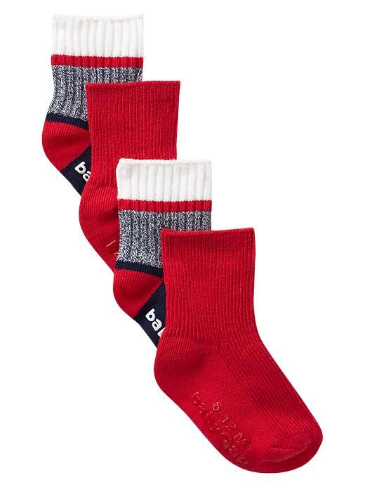 Paddington Bear For Babygap Colorblock Socks (2 Pack) - Red wagon - Gap Canada