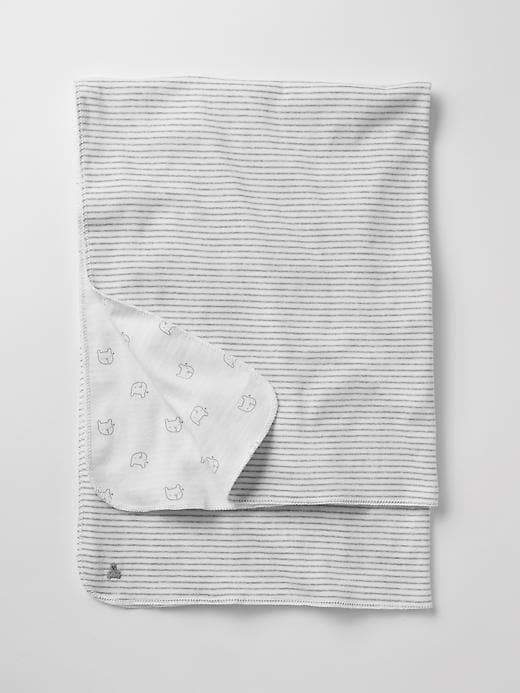 Gap Favorite Reversible Bear Blanket - White - Gap Canada