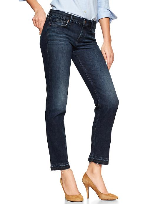 Gap 1969 Real Straight Skimmer Jeans - Langer wash - Gap Canada