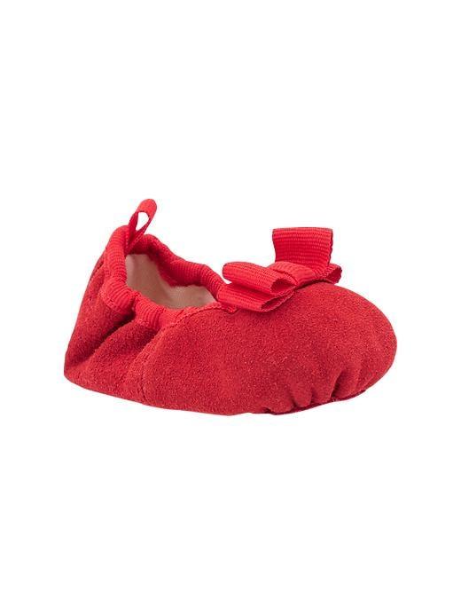 Paddington Bear For Babygap Suede Ballet Flats - Red wagon - Gap Canada