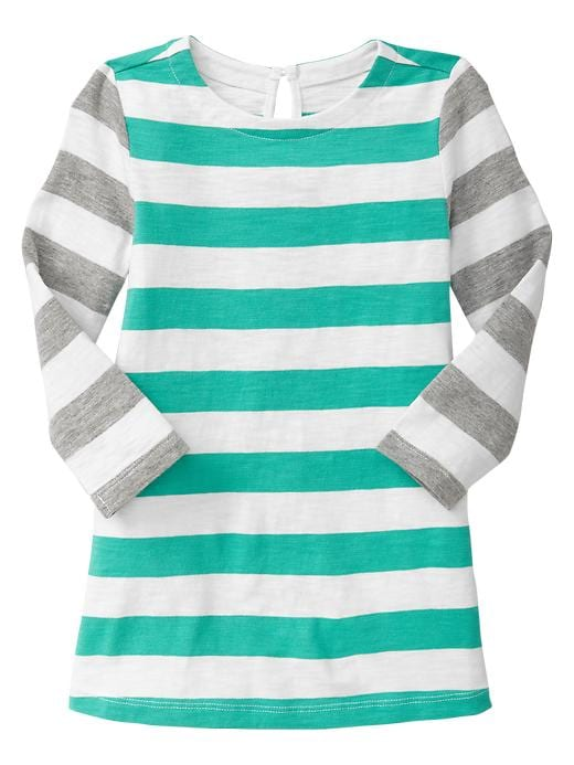 Gap Colorblock Stripe Dress - Egyptian turquoise - Gap Canada