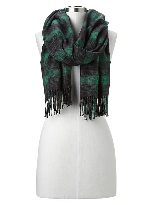 Cozy plaid scarf