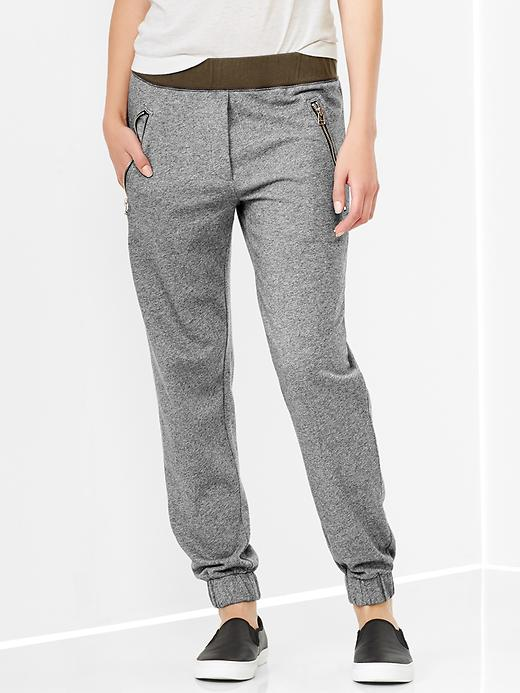 Color-block Zip Pocket Track Pants