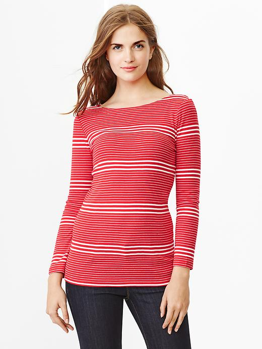 Super-soft Stripe Boat-neck Tee