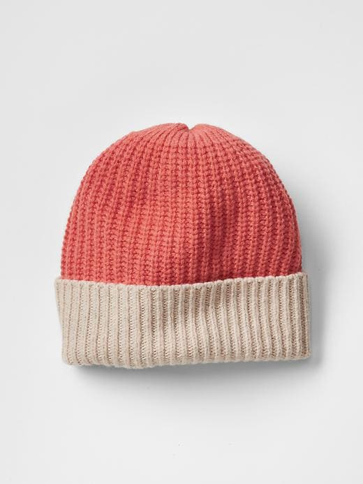 Colorblock Ribbed Beanie