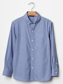 Non-iron end-on-end shirt