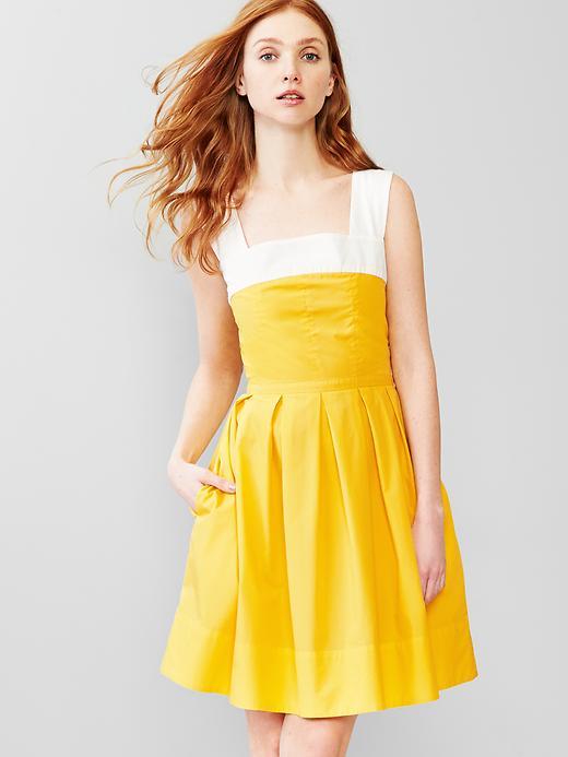 Yellow And White Dress | cutty.tk