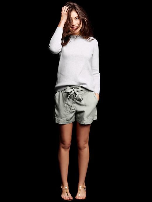 Tencel® paperbag-waist shorts