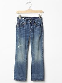 Destructed boot jeans