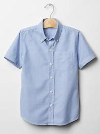 Chemise oxford d'uniforme à manches courtes