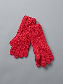 Honeycomb cable knit tech gloves