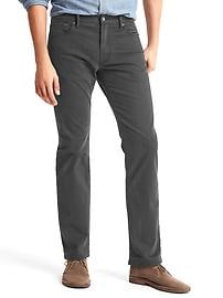 Broken twill straight fit jeans