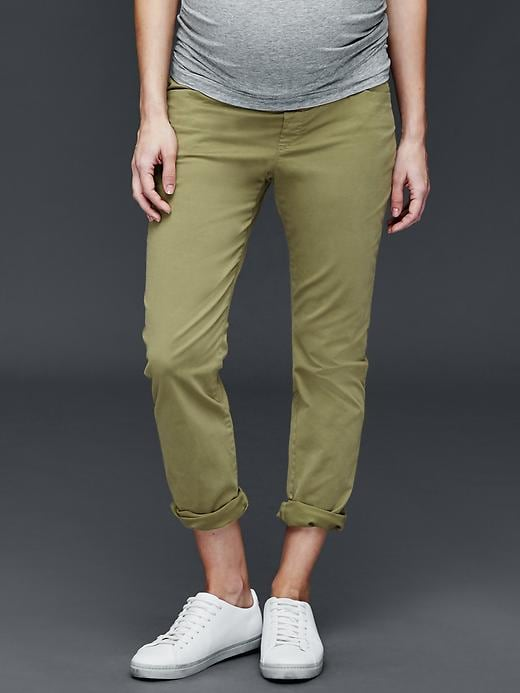 d65946eab411 Maternity Demi Panel Girlfriend Chinos | Gap