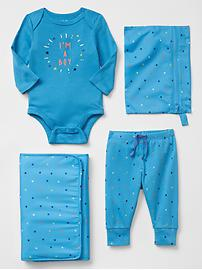 Starry blue spare pair changing set