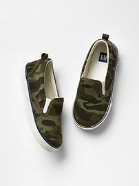 Camo slip-on sneakers