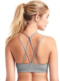 Breathe low impact strappy sports bra