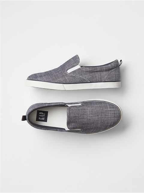 Kids Denim Slip-On Sneakers