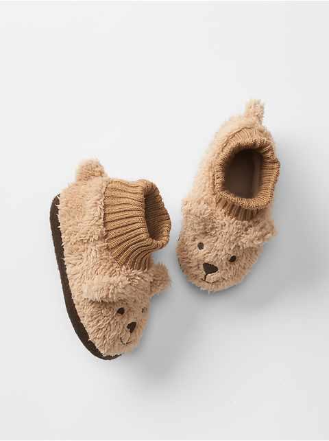 Pantoufles ourson douillettes pour bébé
