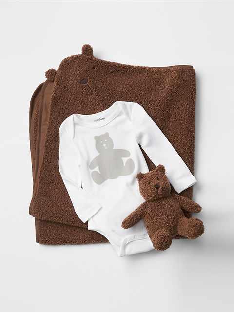 Ensemble ours Brannan favori pour jouer sur le ventre (bébé)